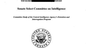 Senate committee report on CIA interrogations