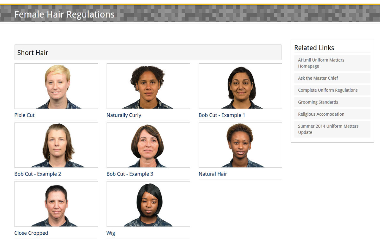 Navy Releases Updated Hair Styles For Women Daily Press - Army hairstyle regulation