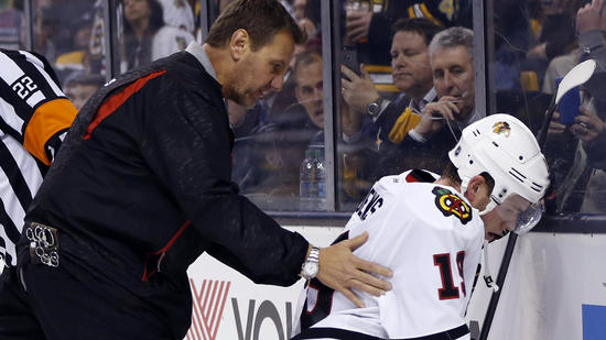 Blackhawks Optimistic Jonathan Toews OK After Face-first Hit Into Boards
