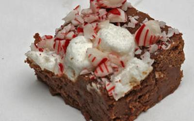 Grandma's peppermint hot chocolate fudge