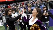 Ravens Halftime Quarterback Challenge [Pictures]