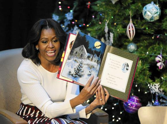 """Michelle Obama reads """"'Twas the Night Before Christmas"""" during her ..."""
