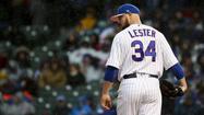 Cubs starting pitcher Jon Lester