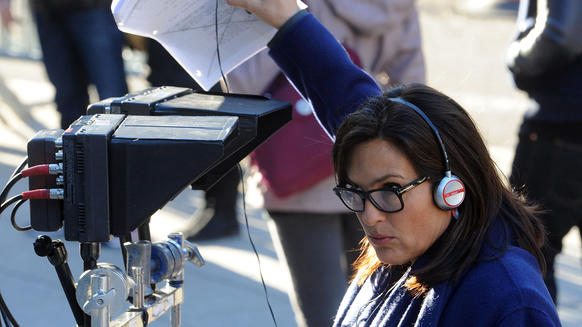 "Mariska Hargitay, who stars on  ""Law & Order: SVU"" as Olivia Benson, directs an episode of the TV series on Dec. 15 in New York City."