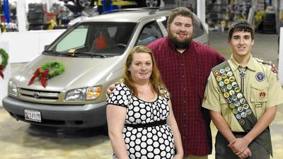 Virginia Boy Scout refurbishes van for Mount Airy family in need as part of Eagle Scout project
