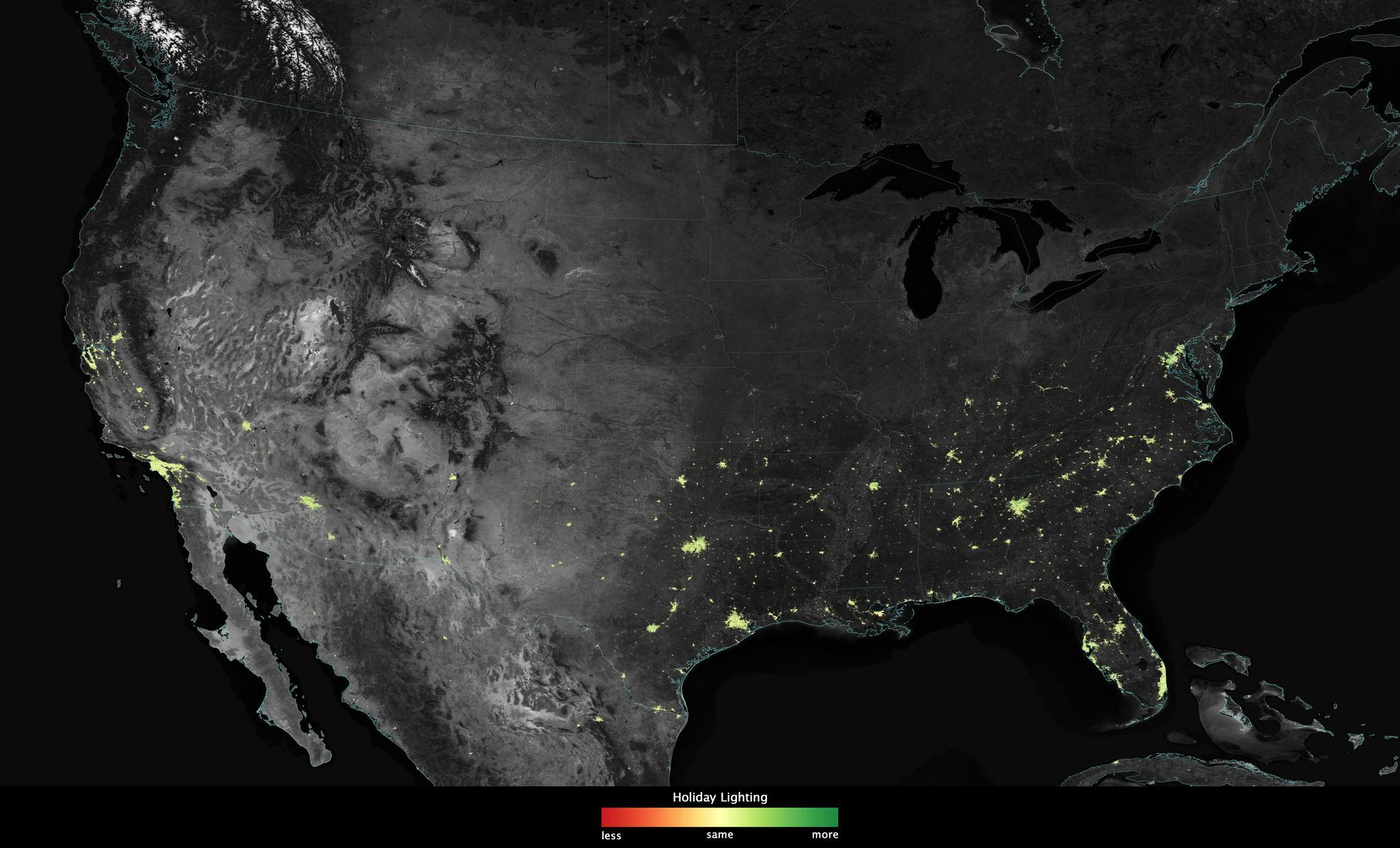 U.S. satellite spies holiday lights from space