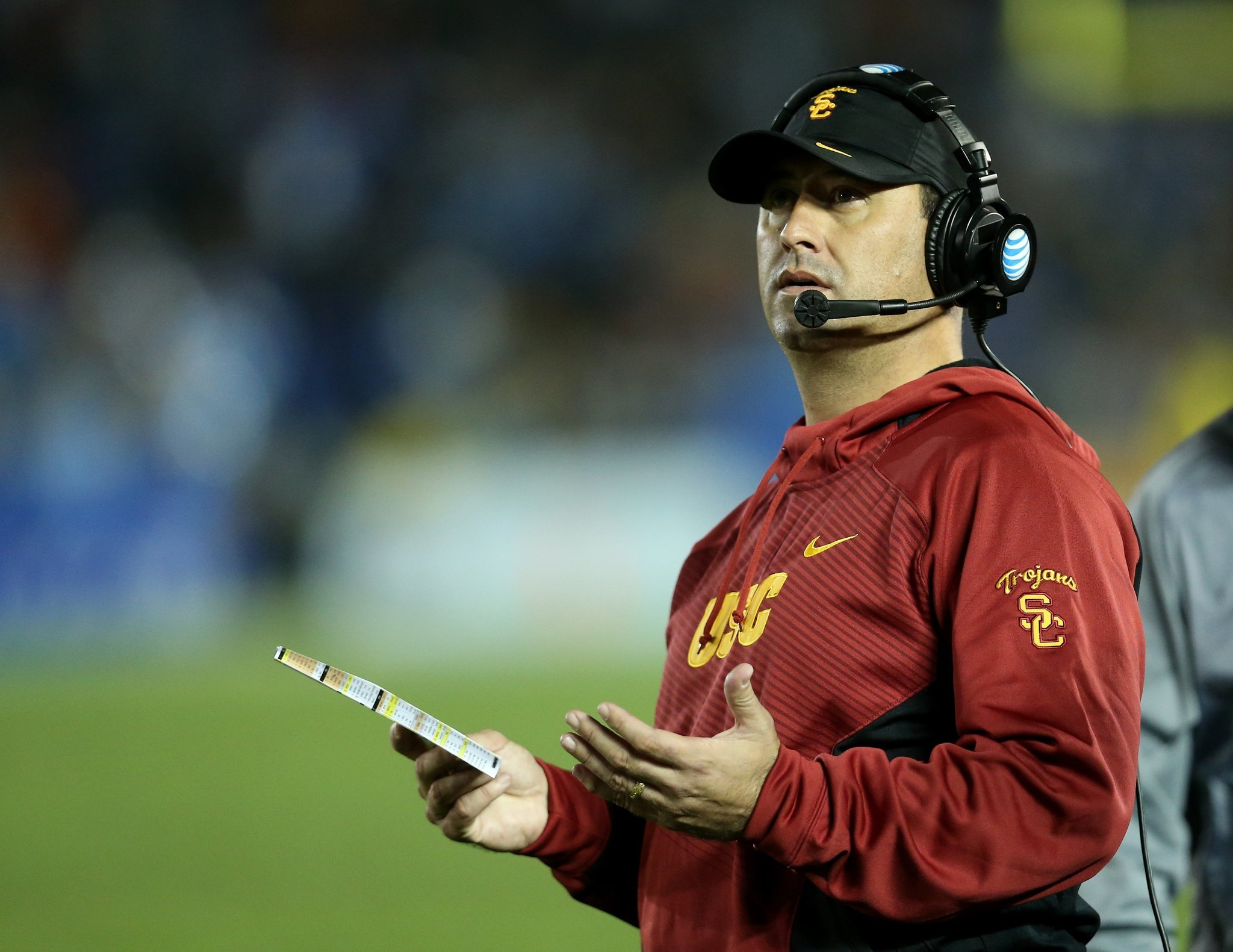 USC returns with 'extremely average' practice, Steve Sarkisian says
