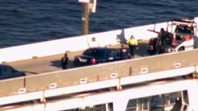 Police pursuit ends on Bay Bridge