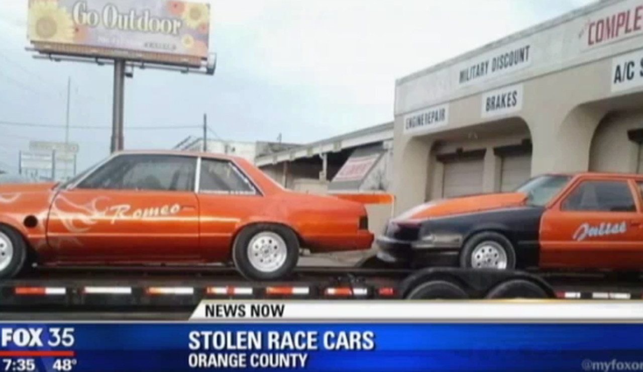 Two race cars, 'Romeo' and 'Juliet,' stolen - Orlando Sentinel