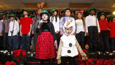 School ushers in holiday cheer