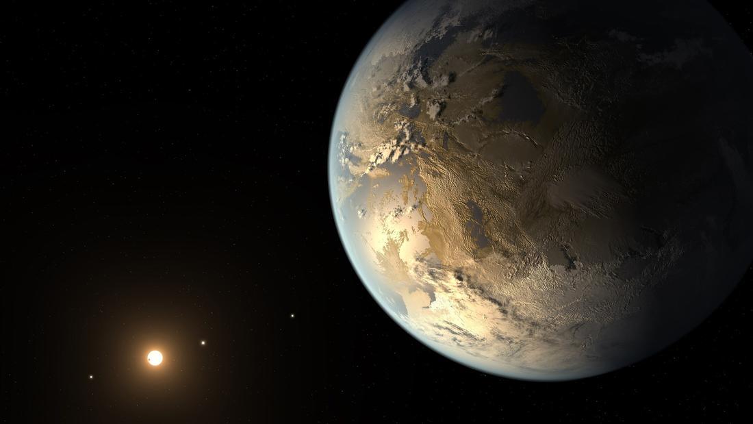 Kepler-186f planet seen in NASA artist's concept