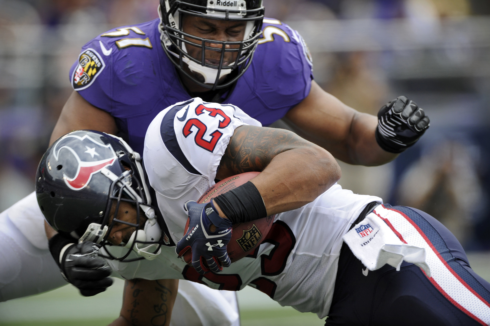 Ravens' run-stopping streak will be tested by Texans' Arian Fos…