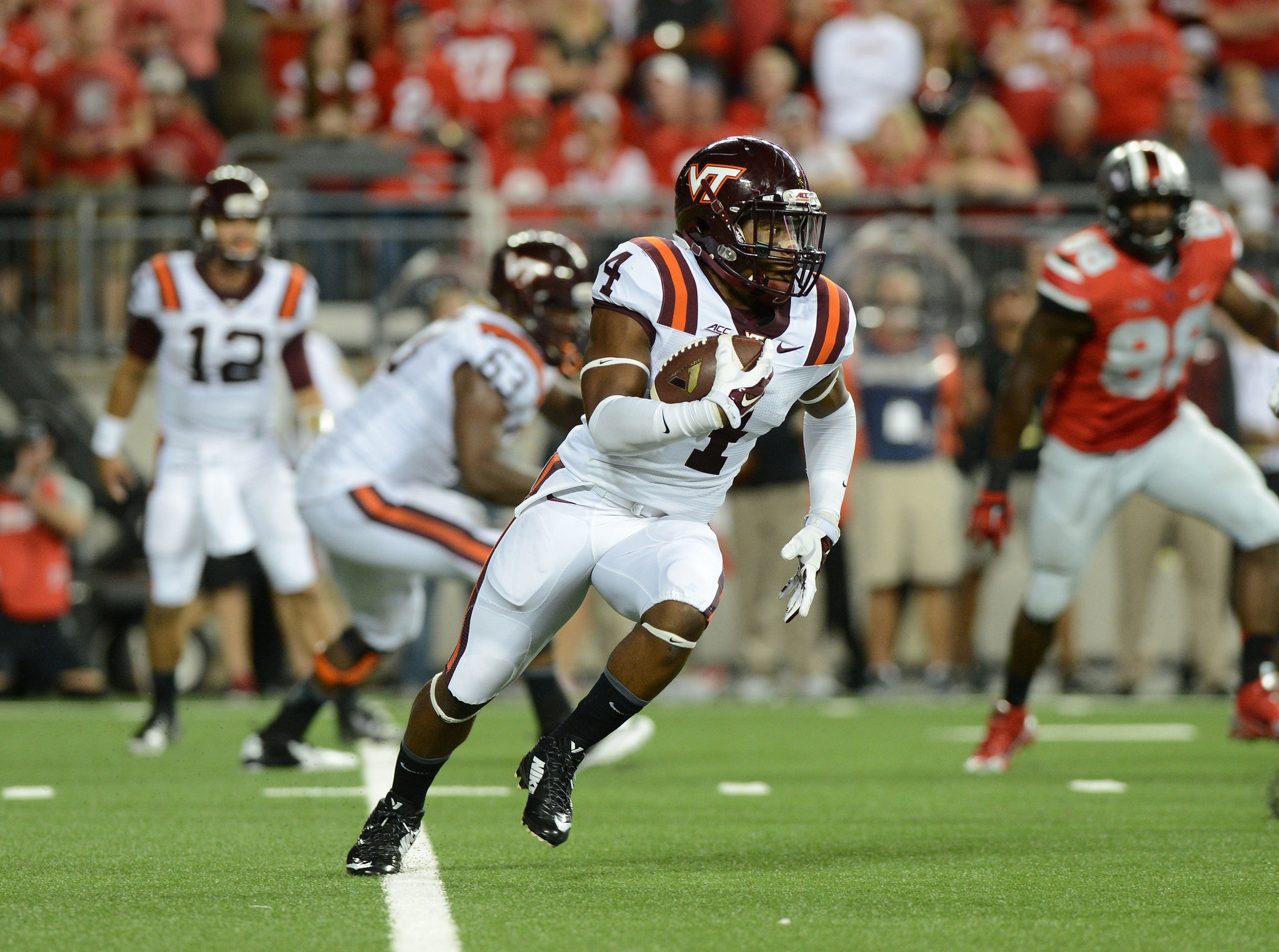 courtesy of Virginia Tech Tailback J.C. Coleman has inherited a greater share of the Hokies' rushing duties because of Virginia Tech's injuries.