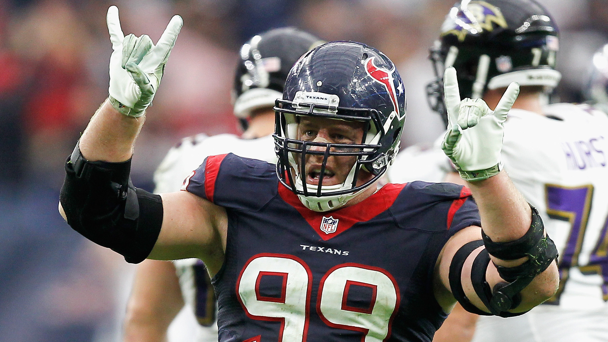 J J Watt turns up the volume as Texans defense dominates Ravens
