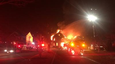 York County home 'fully-engulfed' in flames