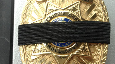 Most county agencies wearing badge shrouds