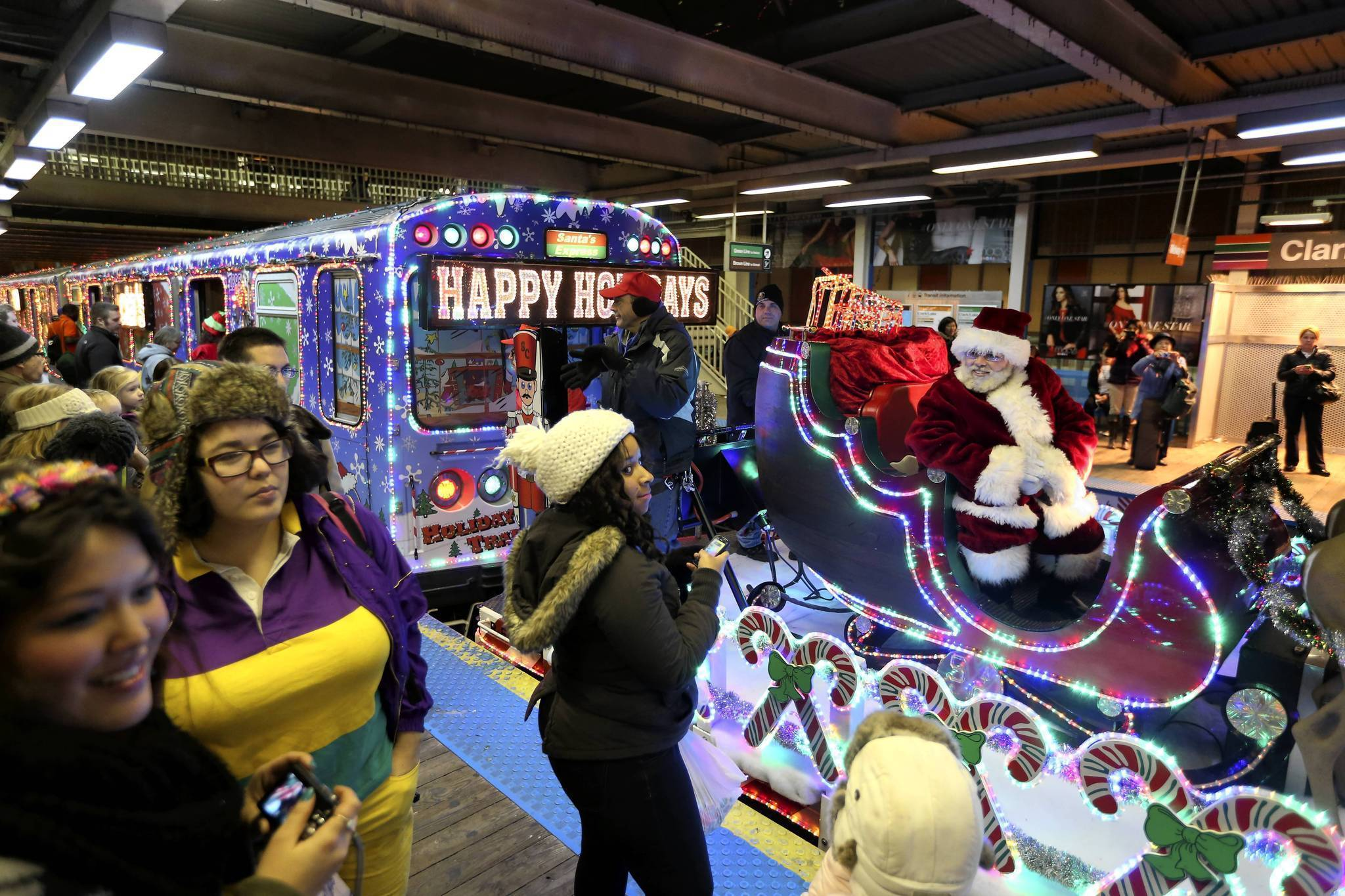 cta holiday train pulled from service for door problem chicago tribune - Cta Christmas Train 2014