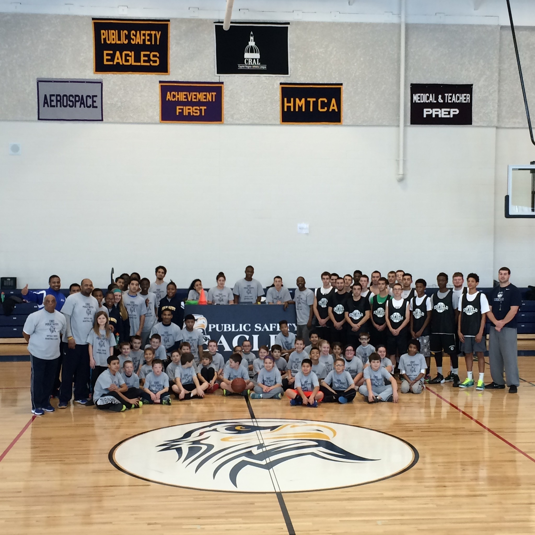 Community Safety Volunteer Academy: CREC Public Safety Academy Holds Basketball Clinic For