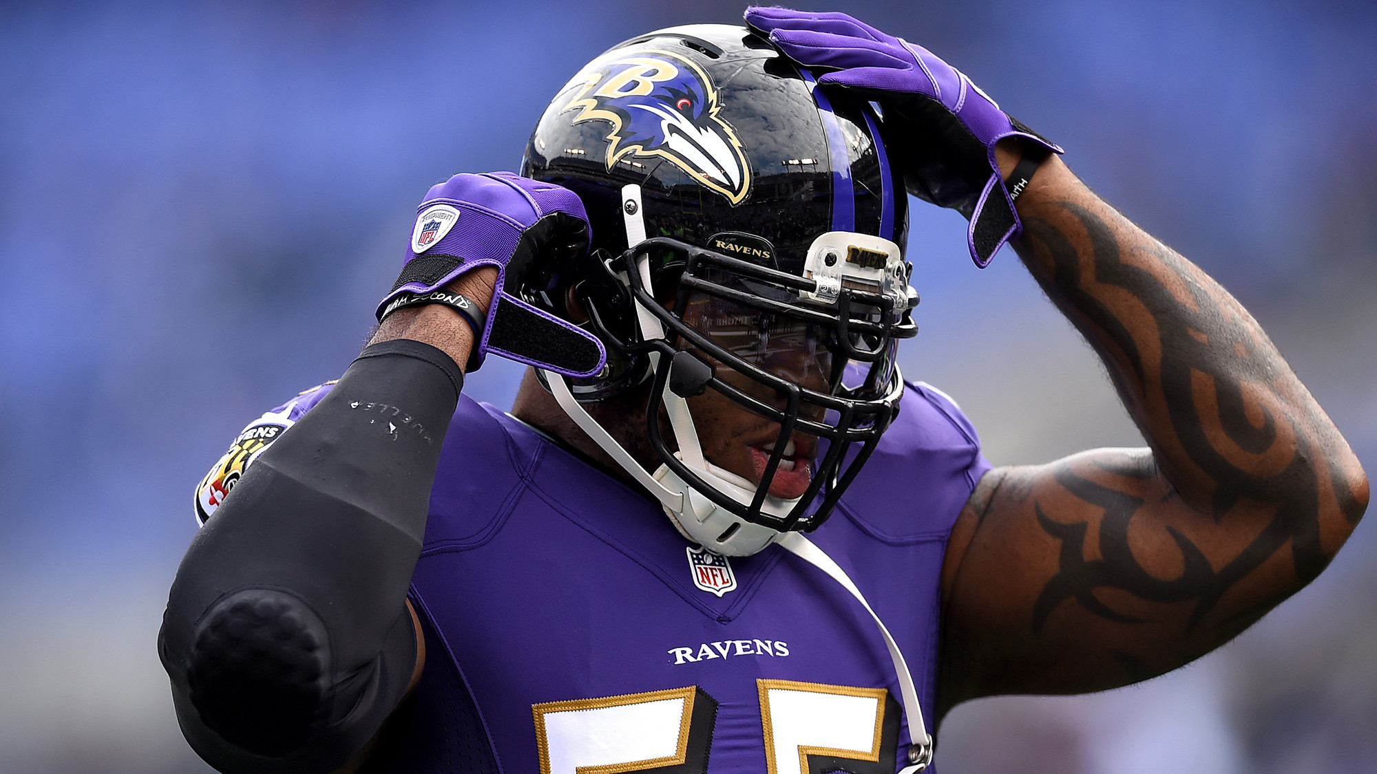 Ravens Chris Canty Eugene Monroe Terrell Suggs not practicing