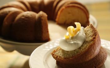 Girasole's orange cake with mascarpone