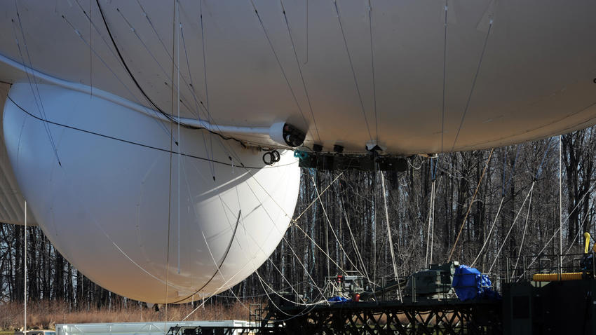 JLENS Blimp tethered {image source: baltimoresun.com}