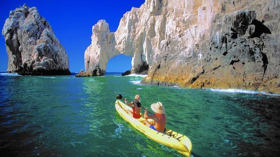 Kayaking off Cabo San Lucas, Mexico