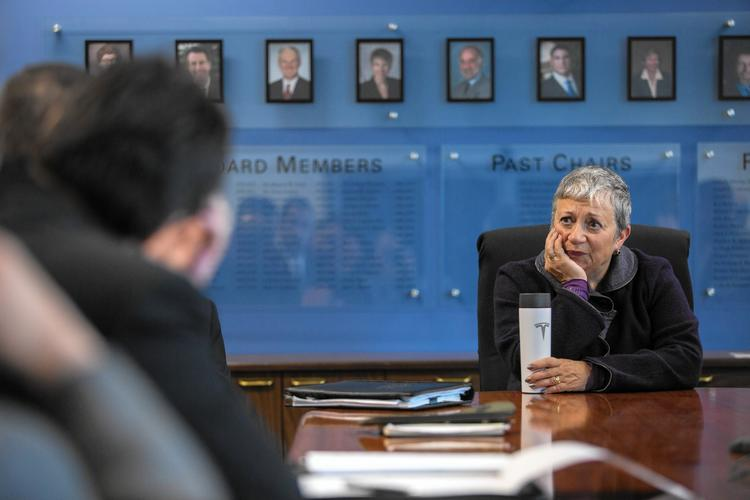 Mary Nichols oversees the cap-and-trade program as chairwoman of the Air Resources Board. (Carl Costas / For The Times)