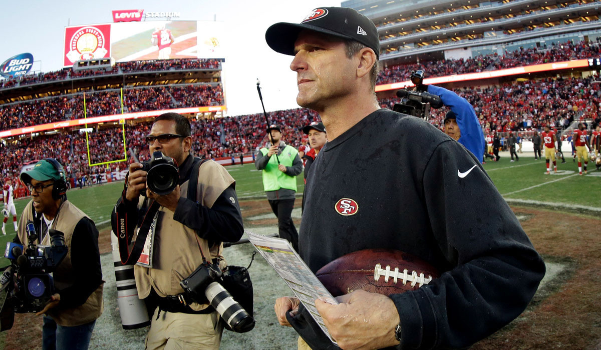 Jim Harbaugh Officially Done As San Francisco 49ers Coach La Times