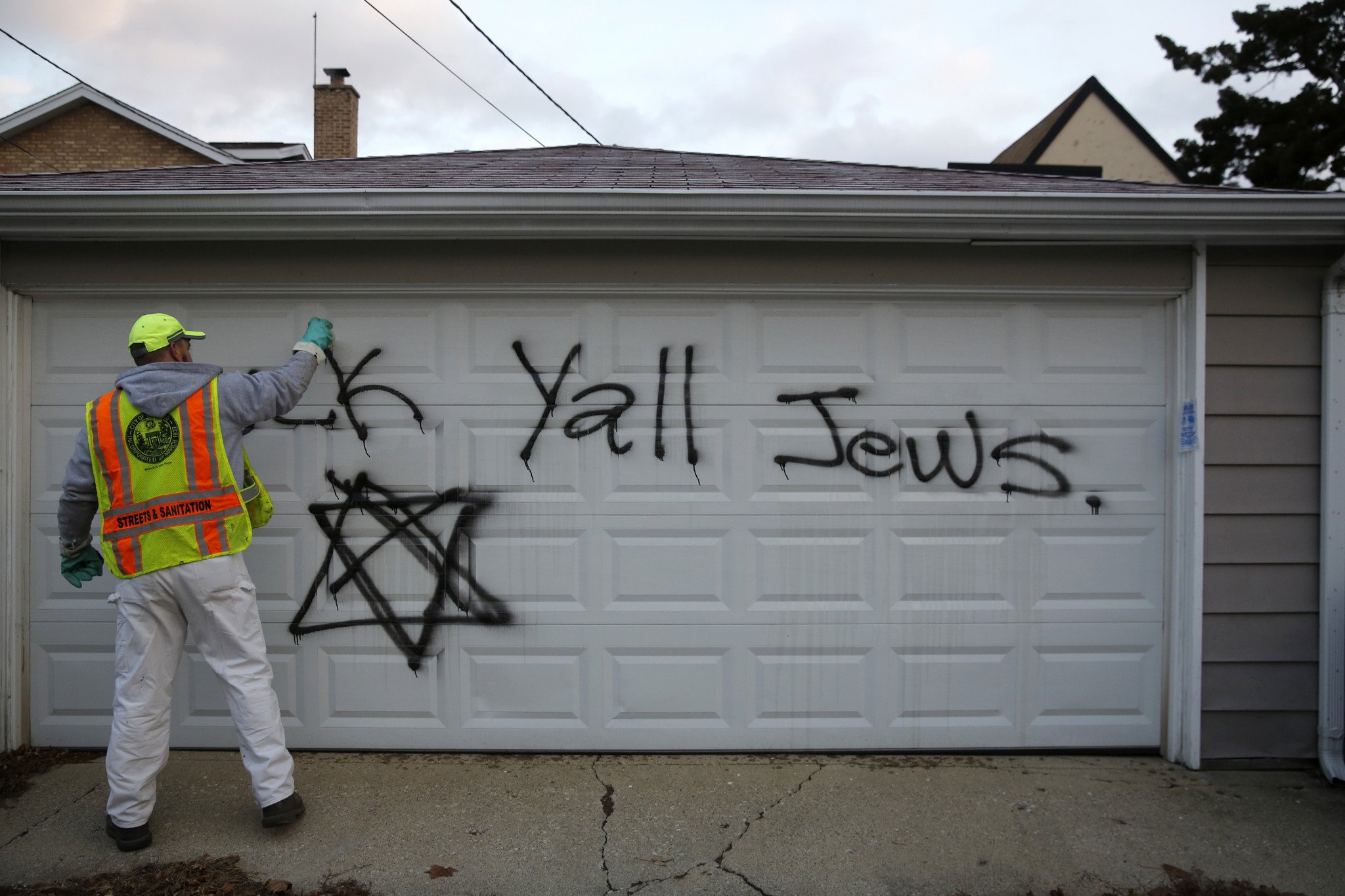 Anti-Semitic graffiti found on synagogue, homes. 'It's frightening'