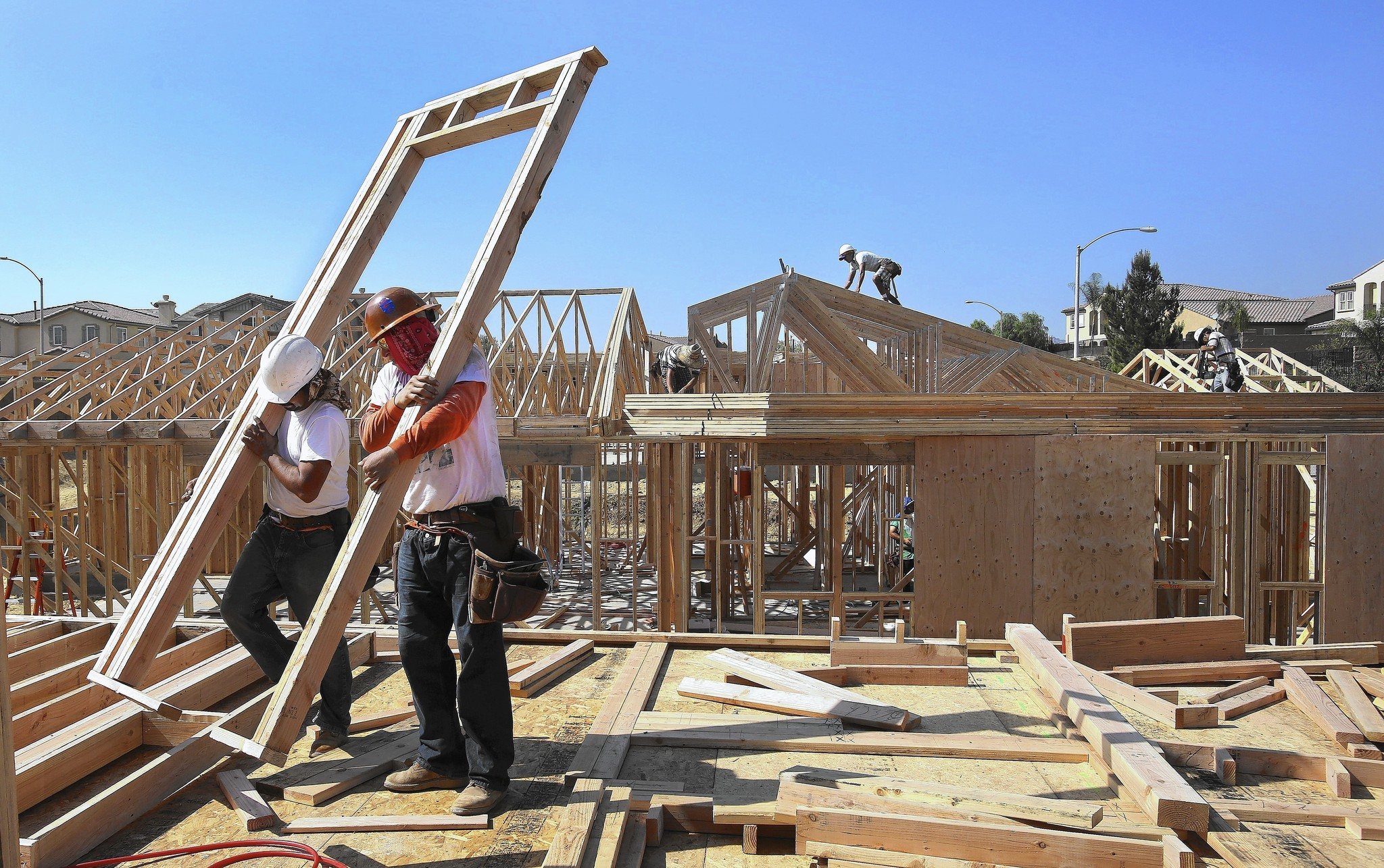Construction In Porter Ranch LA Times