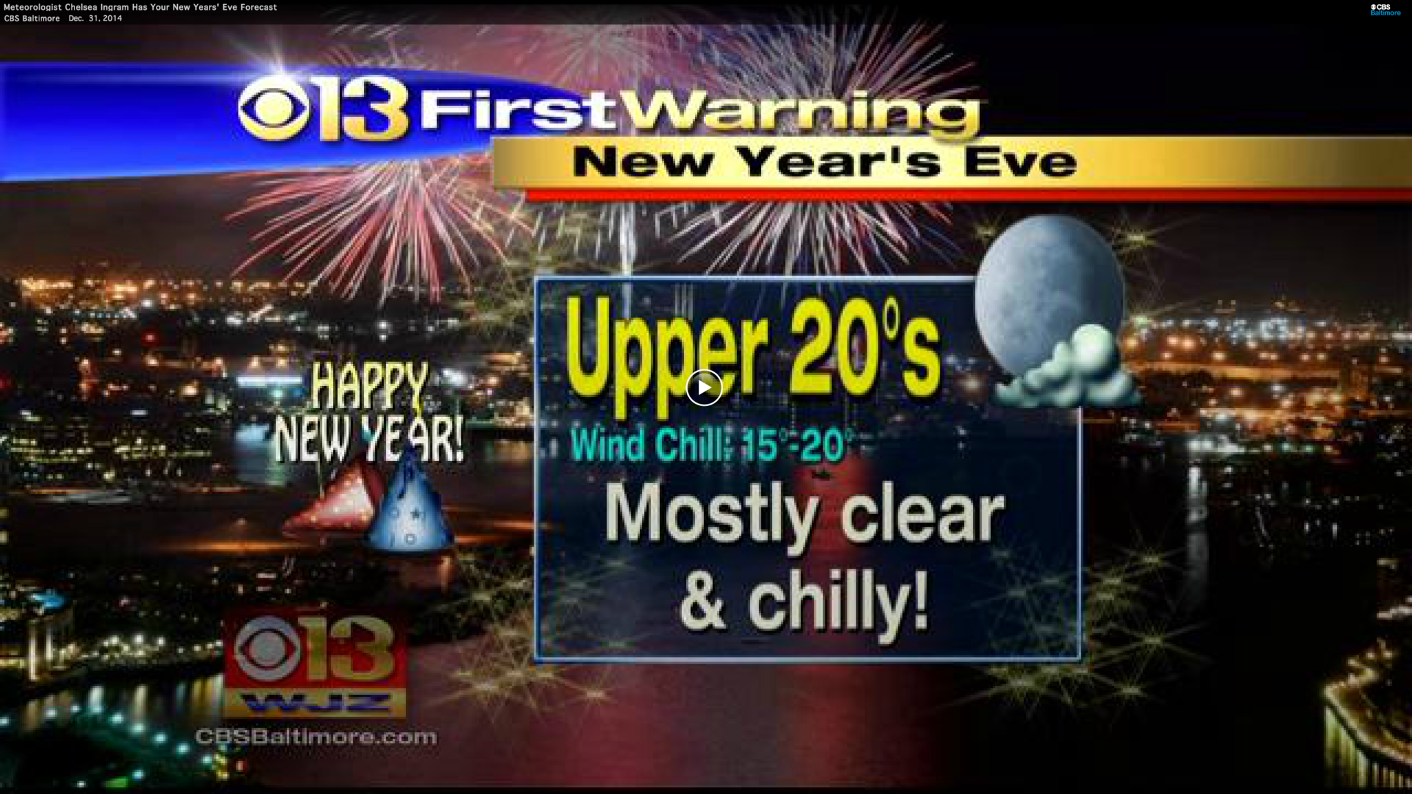 WJZ New Year's Eve weather forecast - Baltimore Sun