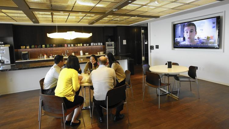 Companies recast office break room as collaborative workspace - LA Times