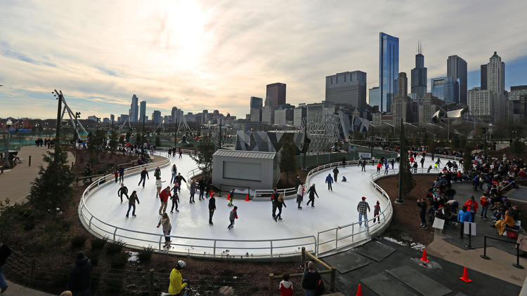 Maggie Daley Skating Park - Geofoam green project