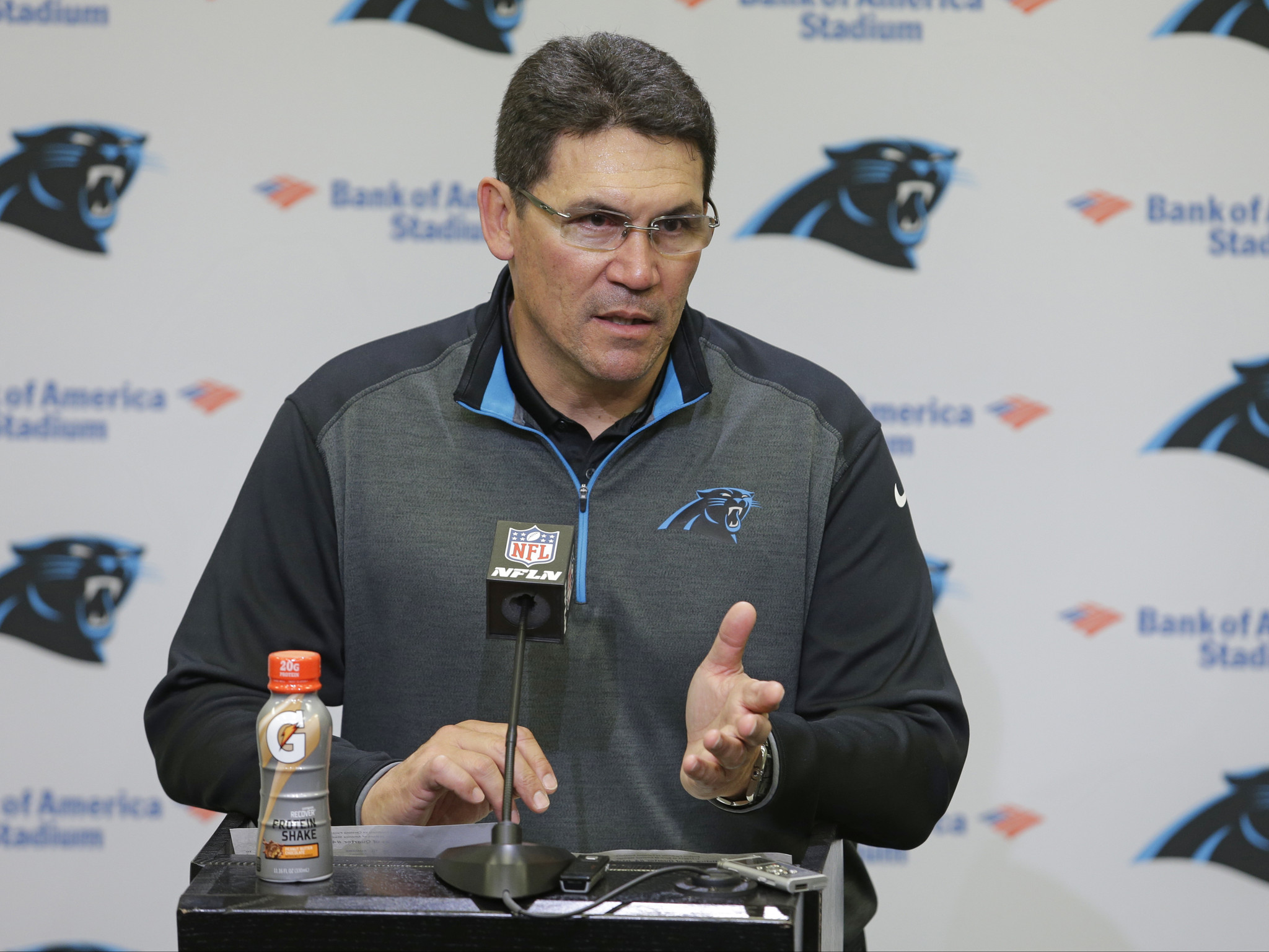 No injuries in fire at home of Panthers coach Ron Rivera
