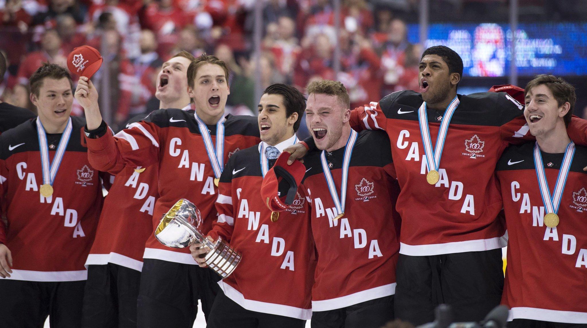 Canada beats Russia 5-4 for record 16th world junior title