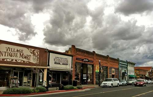 The town's streets, like Branch Street, have that classic look of an era gone by.