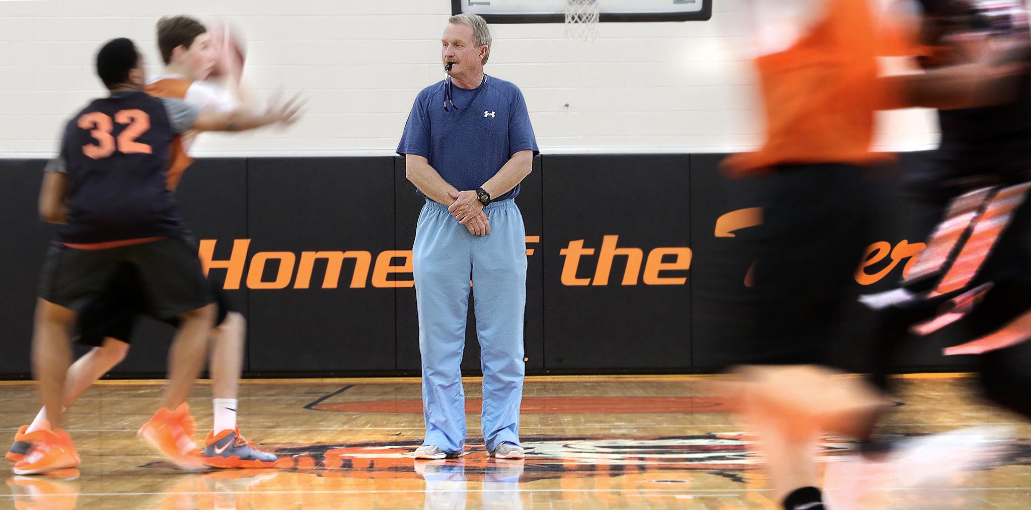 Tabb coach Doug Baggett goes for boys basketball win No ...
