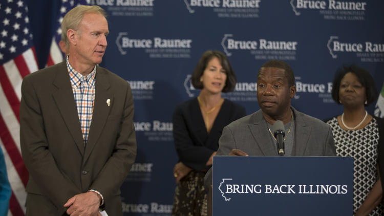 Bruce Rauner and James Meeks