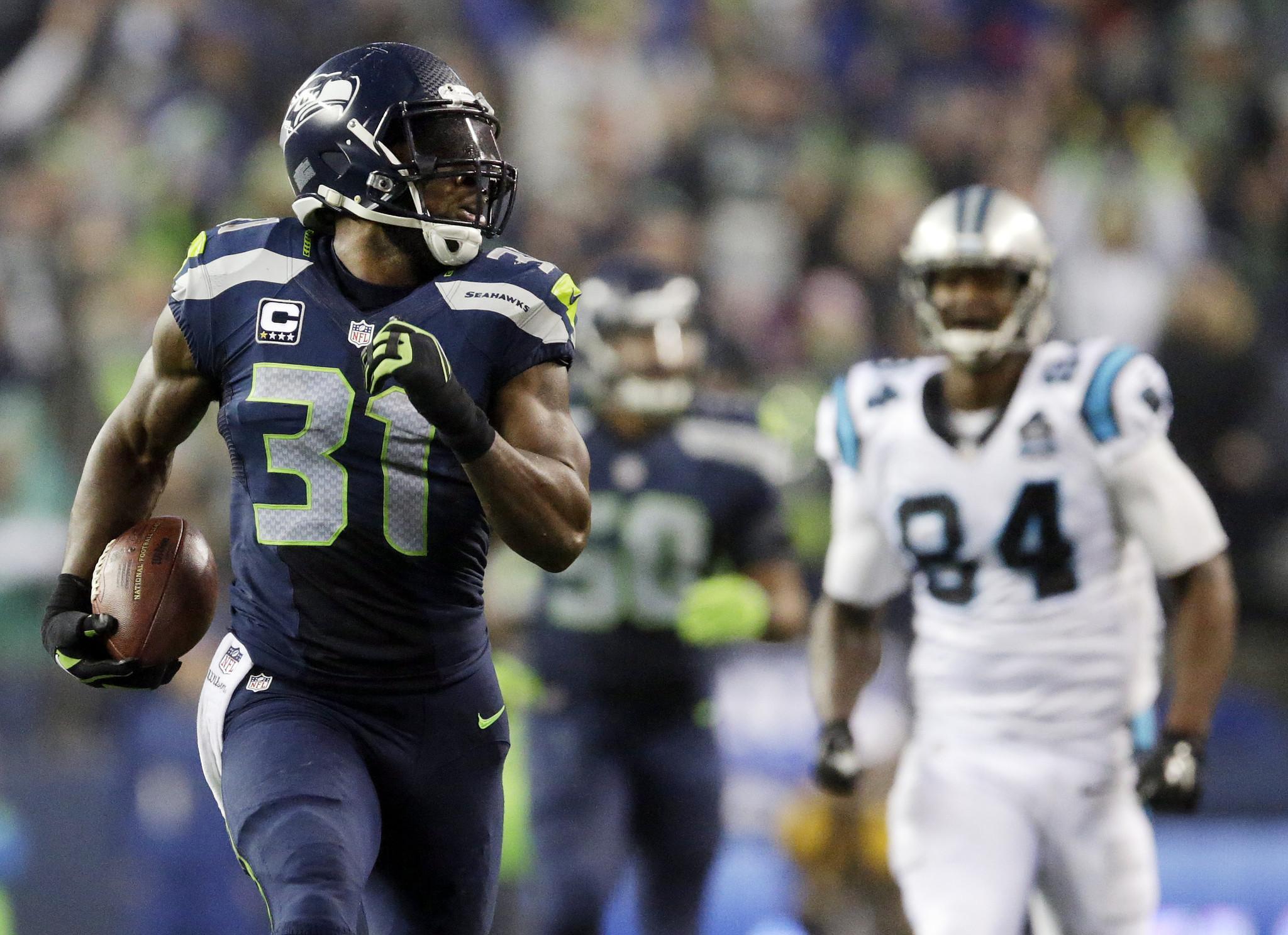 Kam Chancellor s interception makes it a breeze for Seattle LA Times