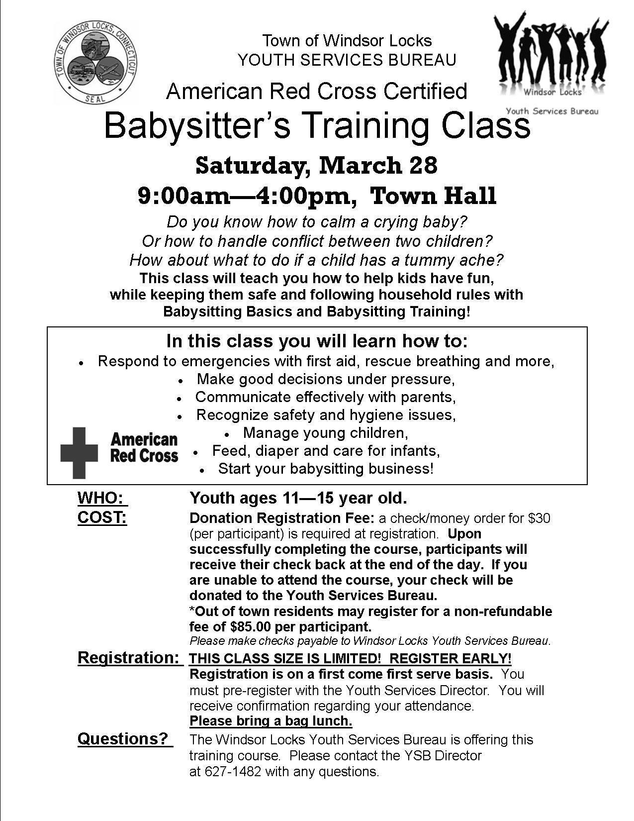 babysitters training courant community
