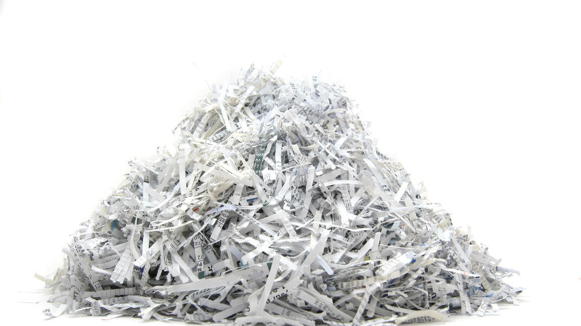 Take papers to shred