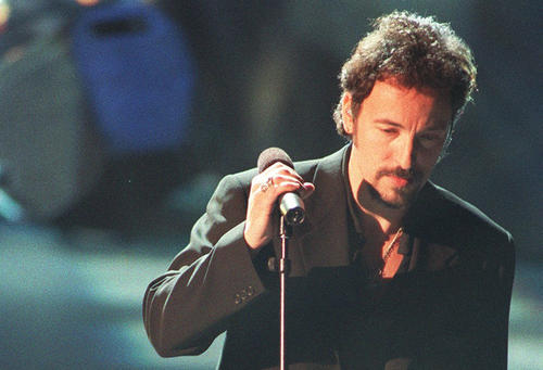 "Bruce Springsteen performs ""Streets of Philadelphia"" from the film ""Philadelphia"" at the 66th Academy Awards in March 1994."