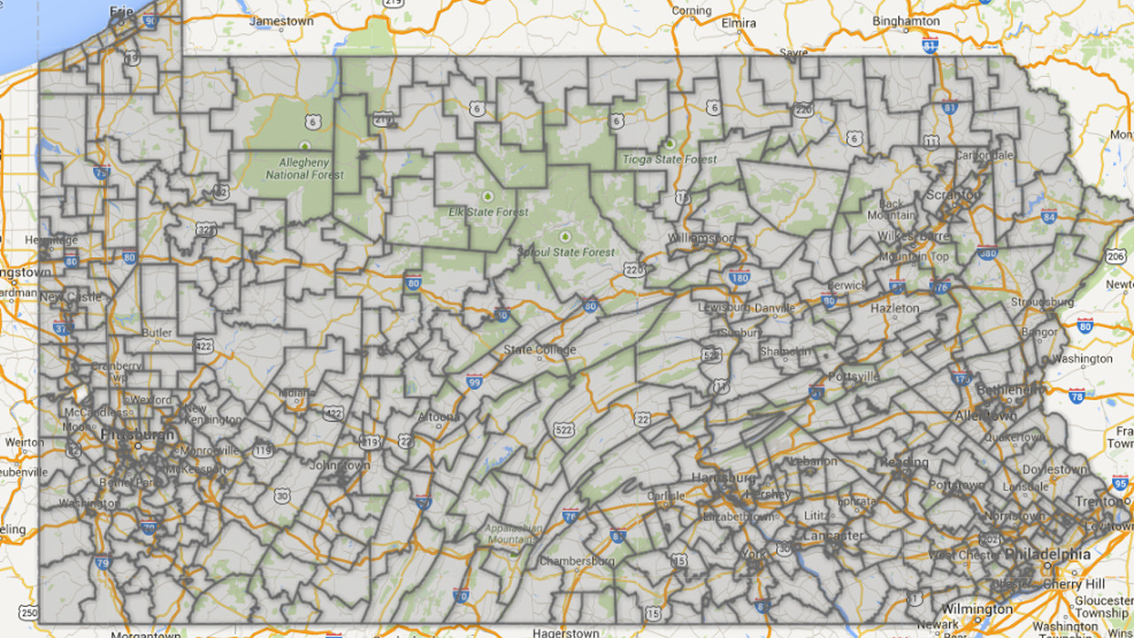 Pennsylvania Teacher Salary Map The Morning Call - Pennyslvania map