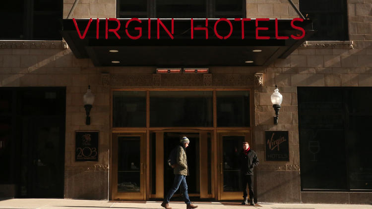 Virgin Hotel entrance