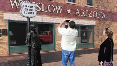 It's the corner, and statue, that made Winslow, Arizona, famous
