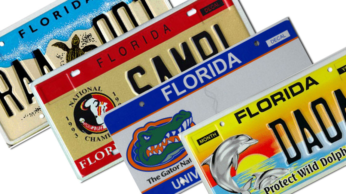 Top 25 Most Popular Florida Specialty License Plates