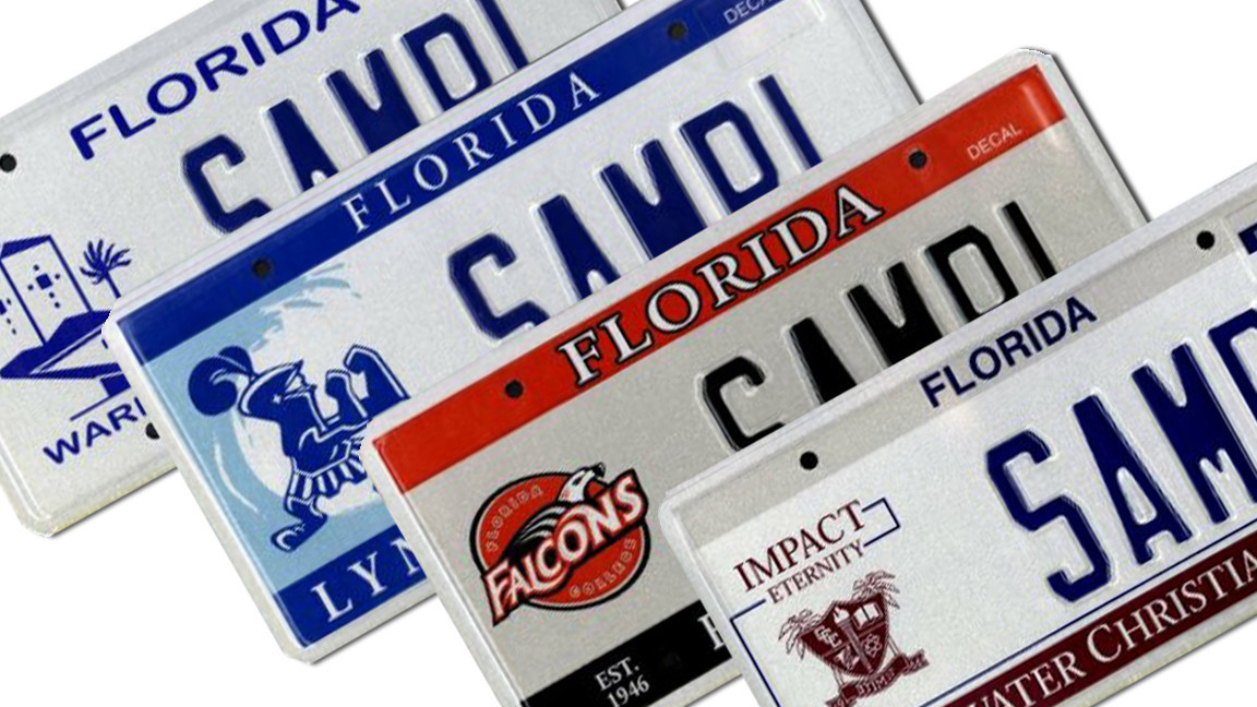 25 Least Popular Florida Specialty License Plates