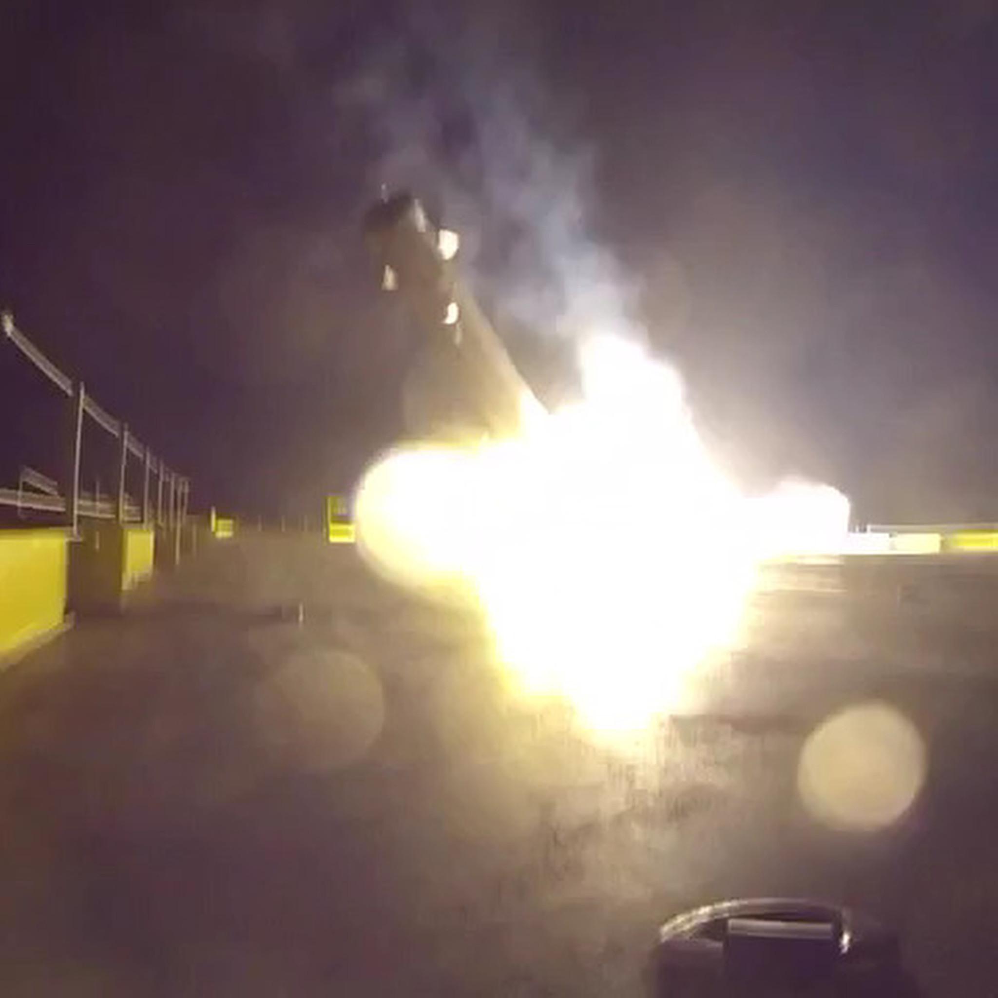 spacex releases video of rocket crash landing on ocean barge chicago tribune