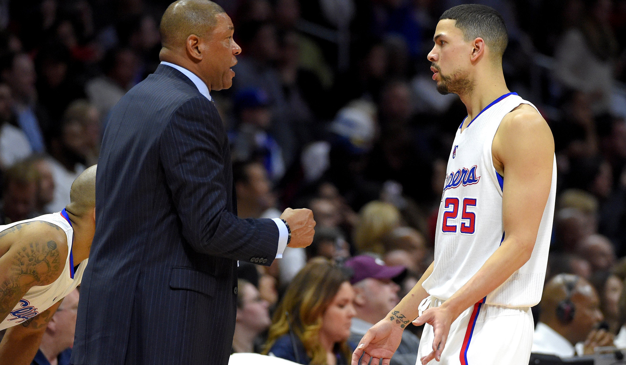 Image result for doc rivers and austin rivers