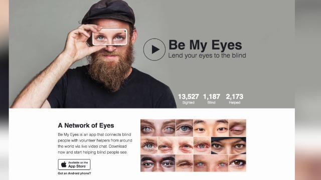 Be My Eyes App Lets You Lend Your Sight To Help The